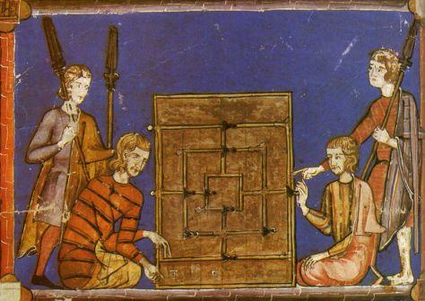 alquerque_ilustración del siglo XIIII en el libro de los juegos de alfonso X_pablo
