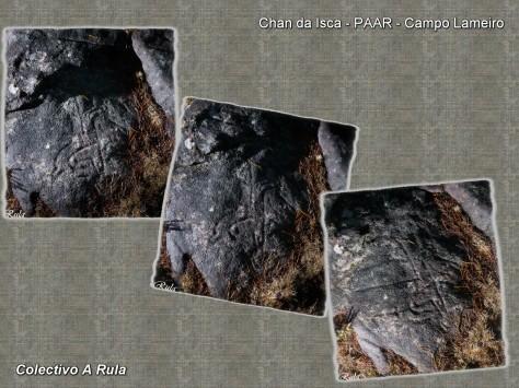Chan de Iscas. Detalle fotografado con diferentes iluminacións.