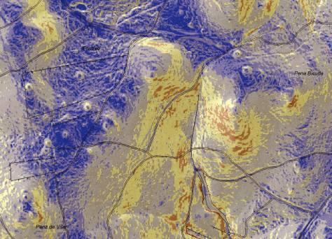 Mapa de Pendentes (Ano 2009-2010) da zona de Loureiro